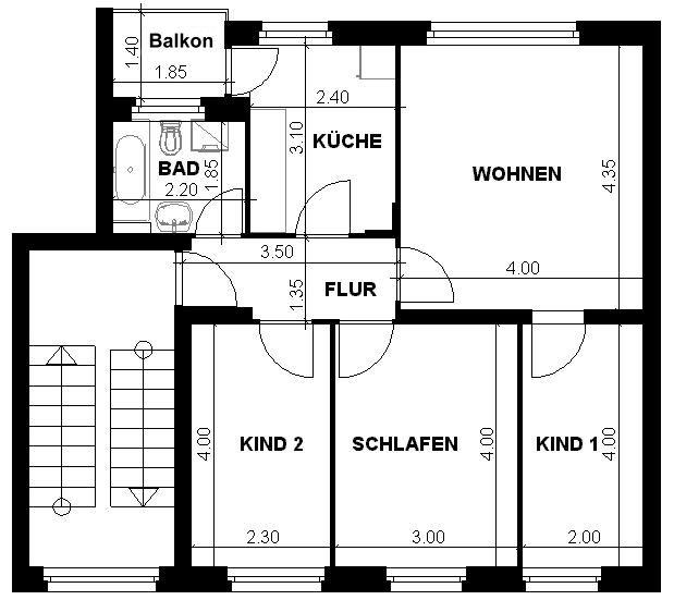 Grundriss wohnung 4 zimmer  Wohnungsunternehmen Gaedeke :: - Angebote